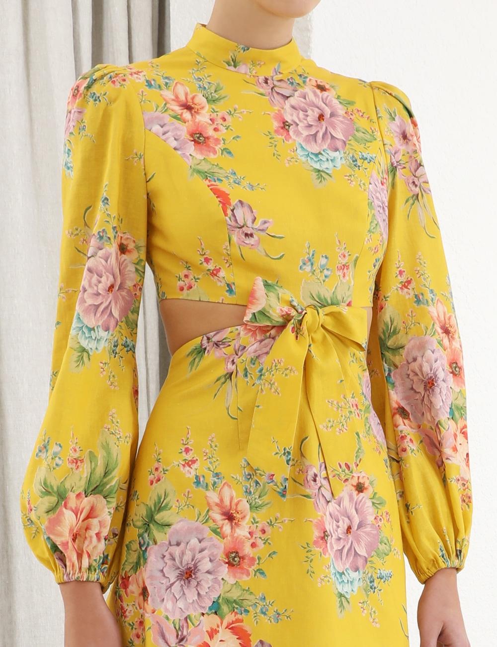 Zinnia Bow Cut Out Short Dress