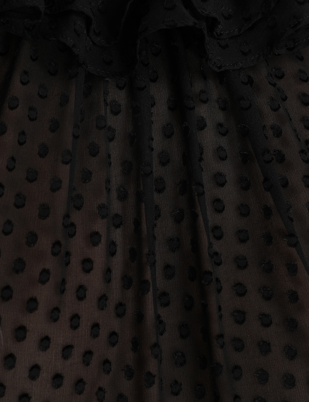 Super Eight Dot Ruffle Shirt