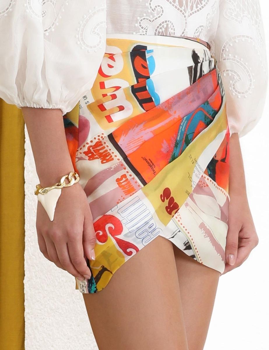 Brightside Wrap Mini Skirt
