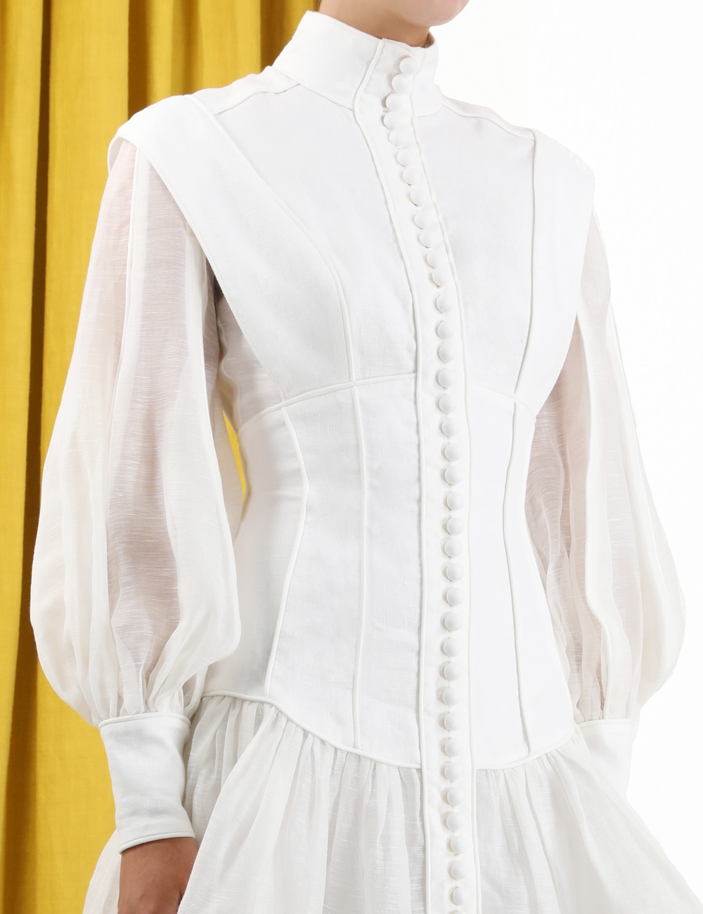 Glassy Long Sleeve Mini Dress