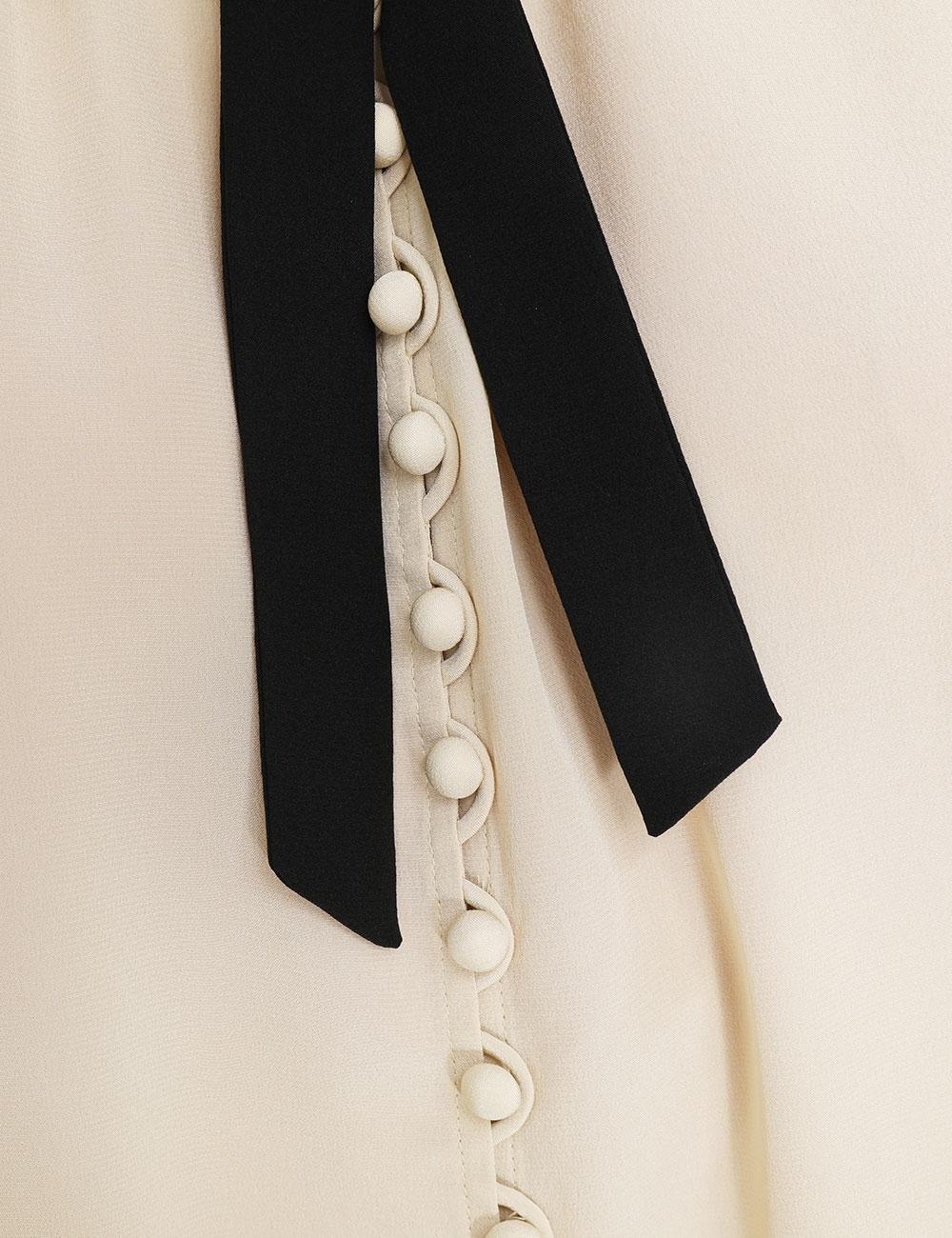Silk Scallop Sleeveless Midi