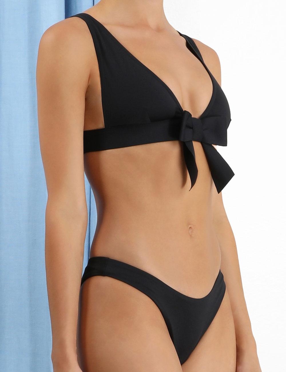 Poppy Plunge Bow Bikini