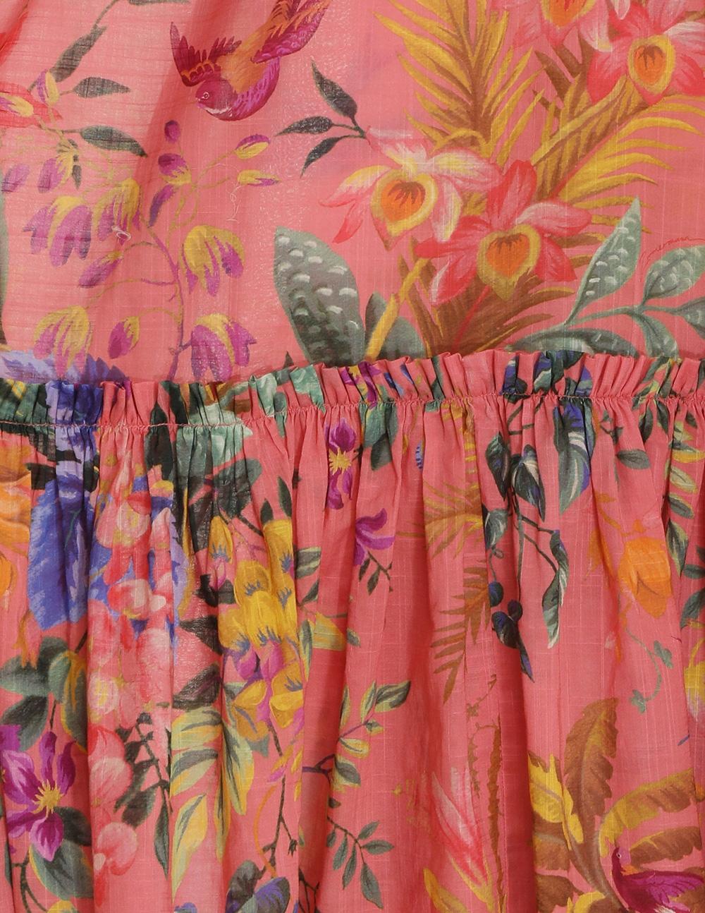 Tropicana Frill Midi Dress