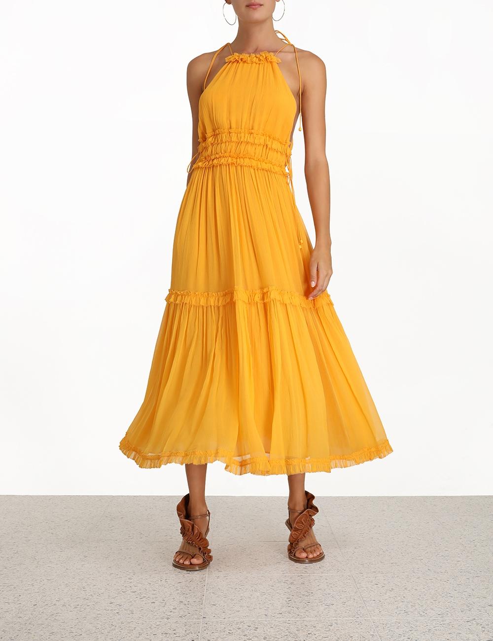 Mae Tiered Frill Long Dress