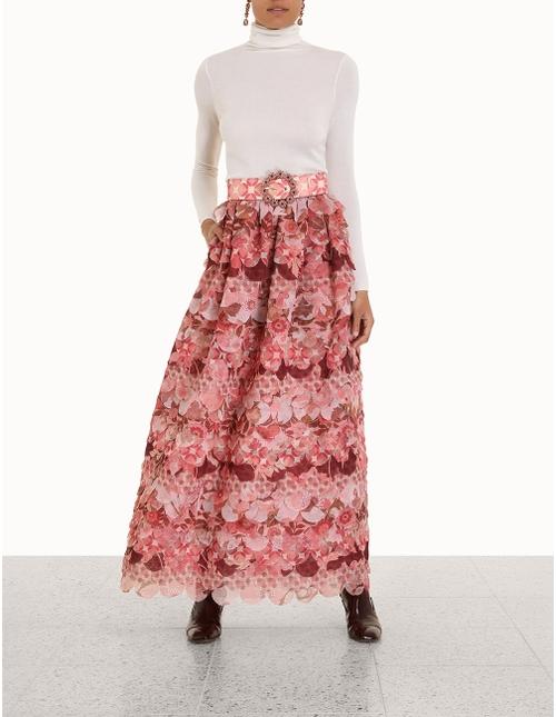 Concert Scalloped Maxi Skirt
