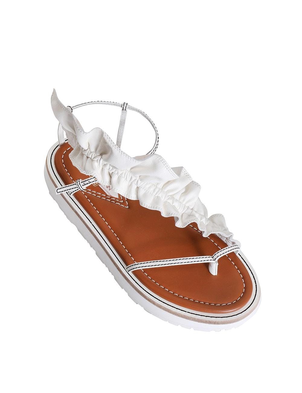 Skinny Strap Ruffle Sandal