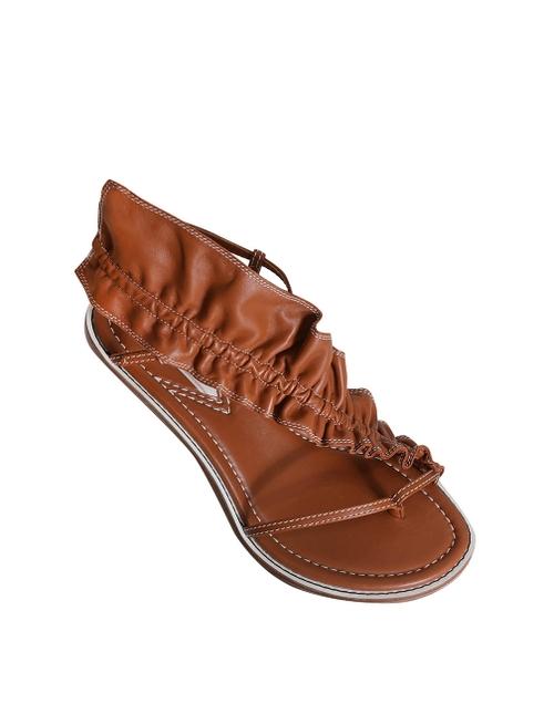 Skinny Strap Ruffle Heel