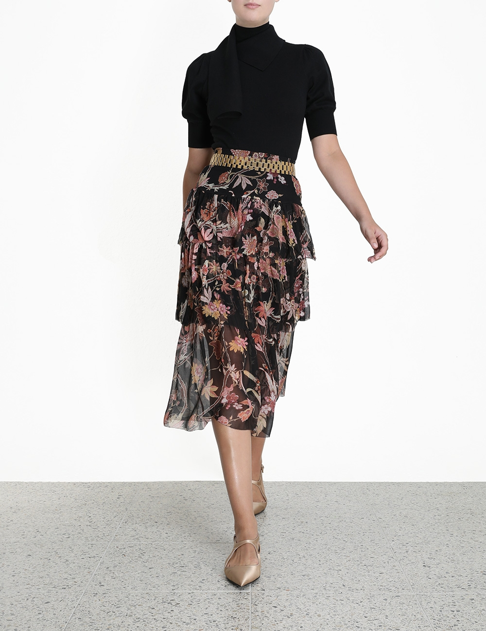 Wavelength Fluted Skirt
