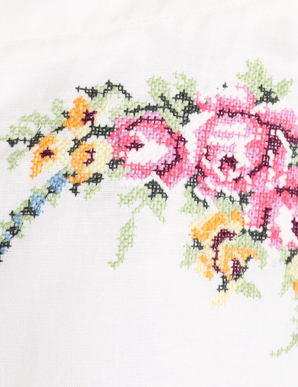 Allia Cross Stitch Pleat Short
