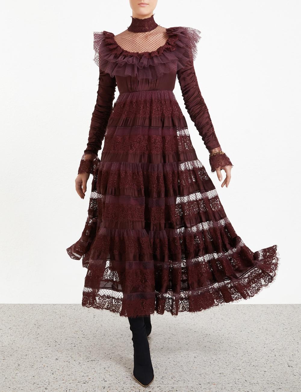 Resistance Ruffle Yoke Dress