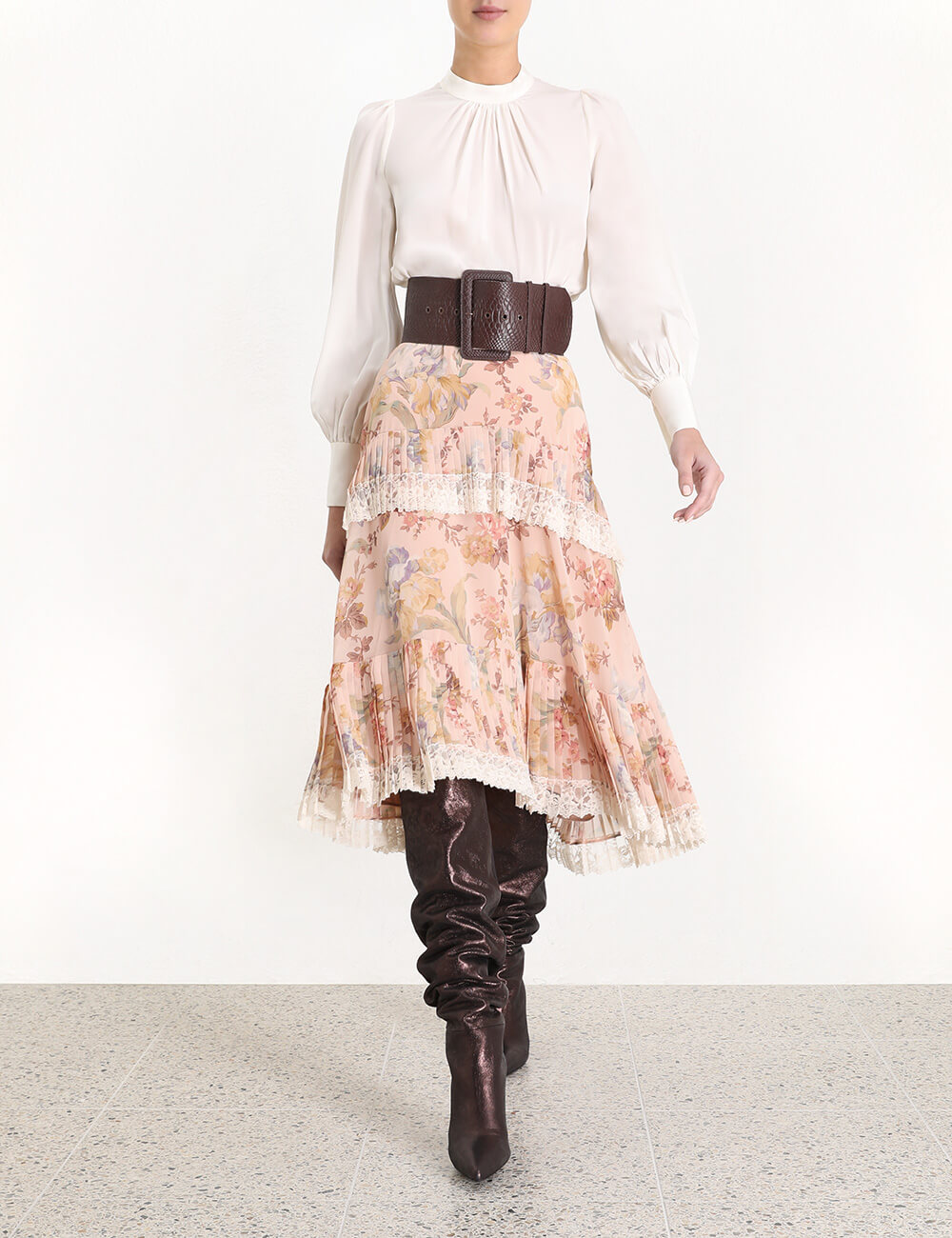 Espionage Pleat Frill Skirt
