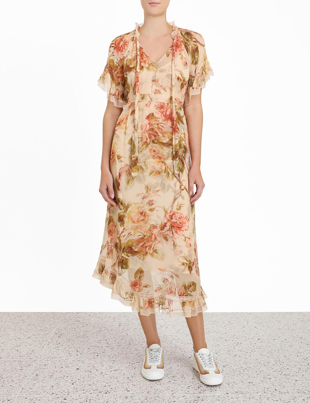 Resistance Tiered Midi Dress