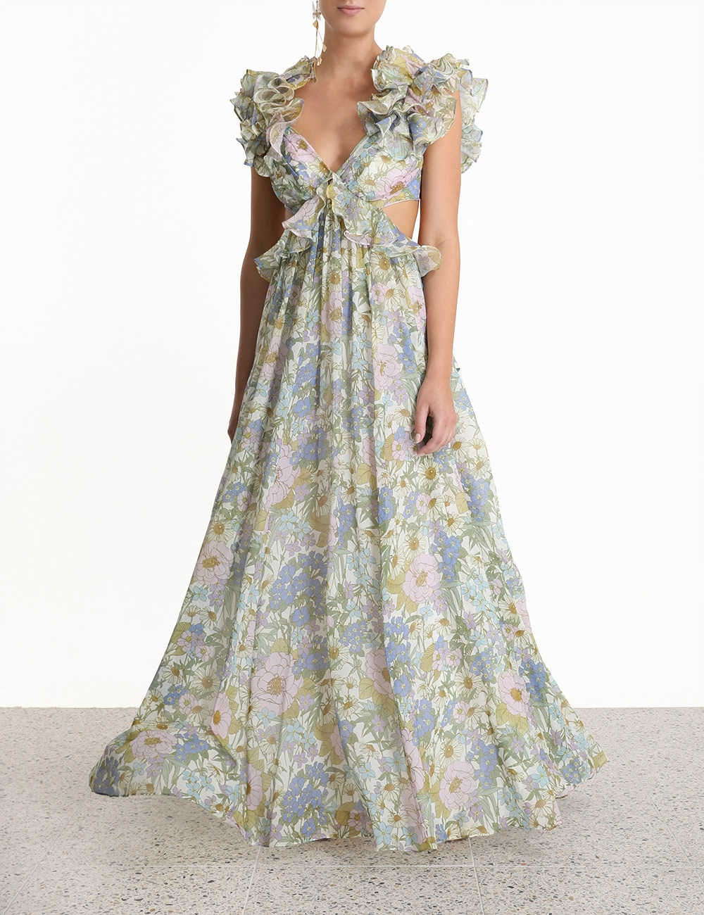 Super Eight Ruffle Gown