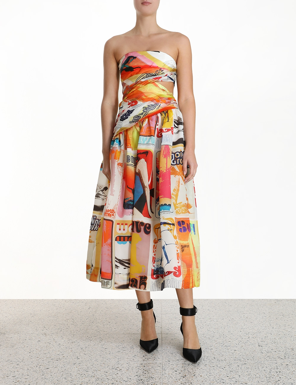 Brightside Wrap Midi Dress