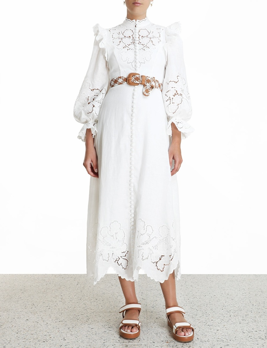Carnaby Scallop Long Dress