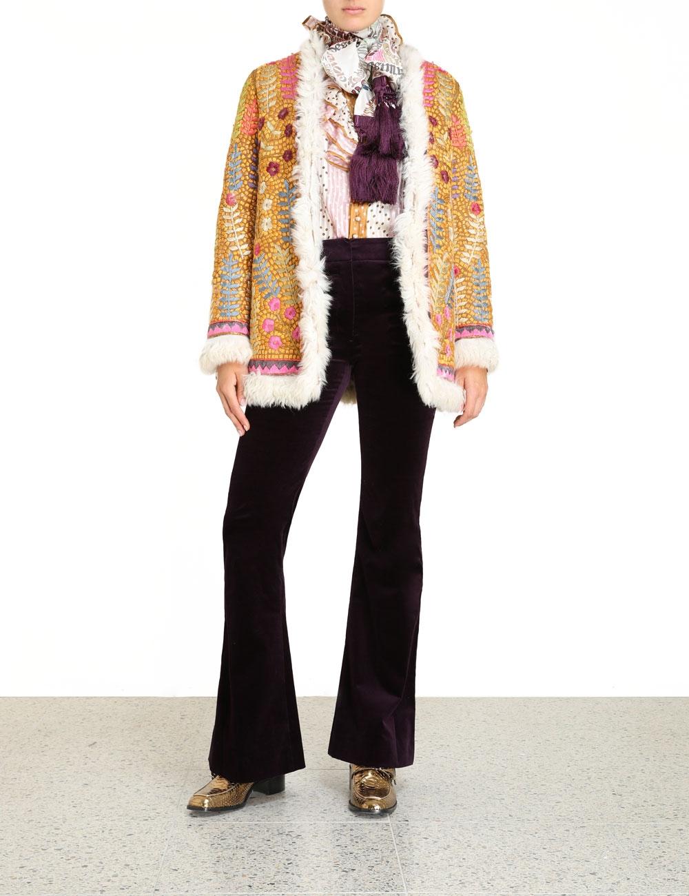 Ladybeetle Shearling Jacket