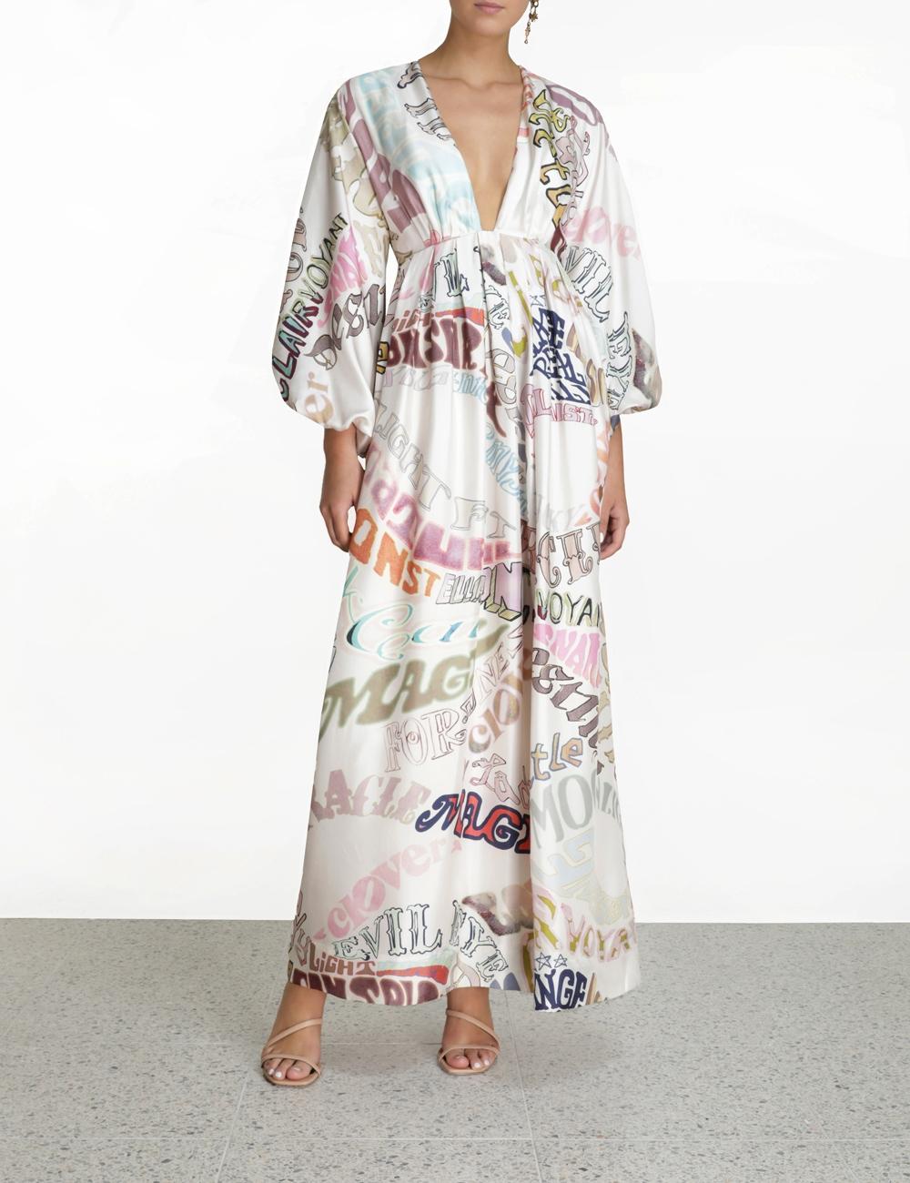 Ladybeetle Word Midi Dress
