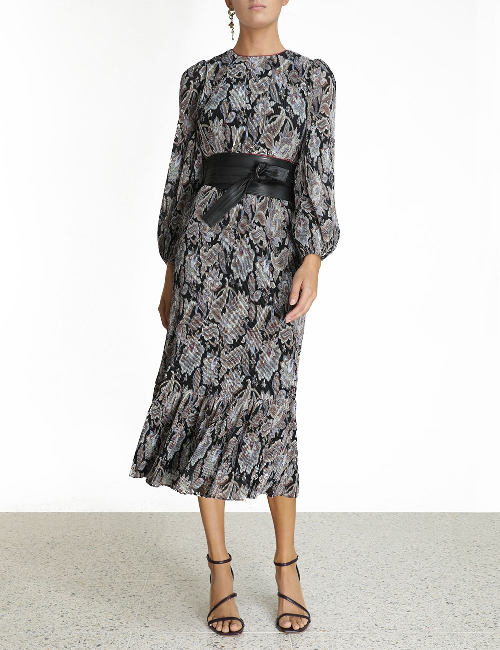 Ladybeetle Pleated Midi Dress