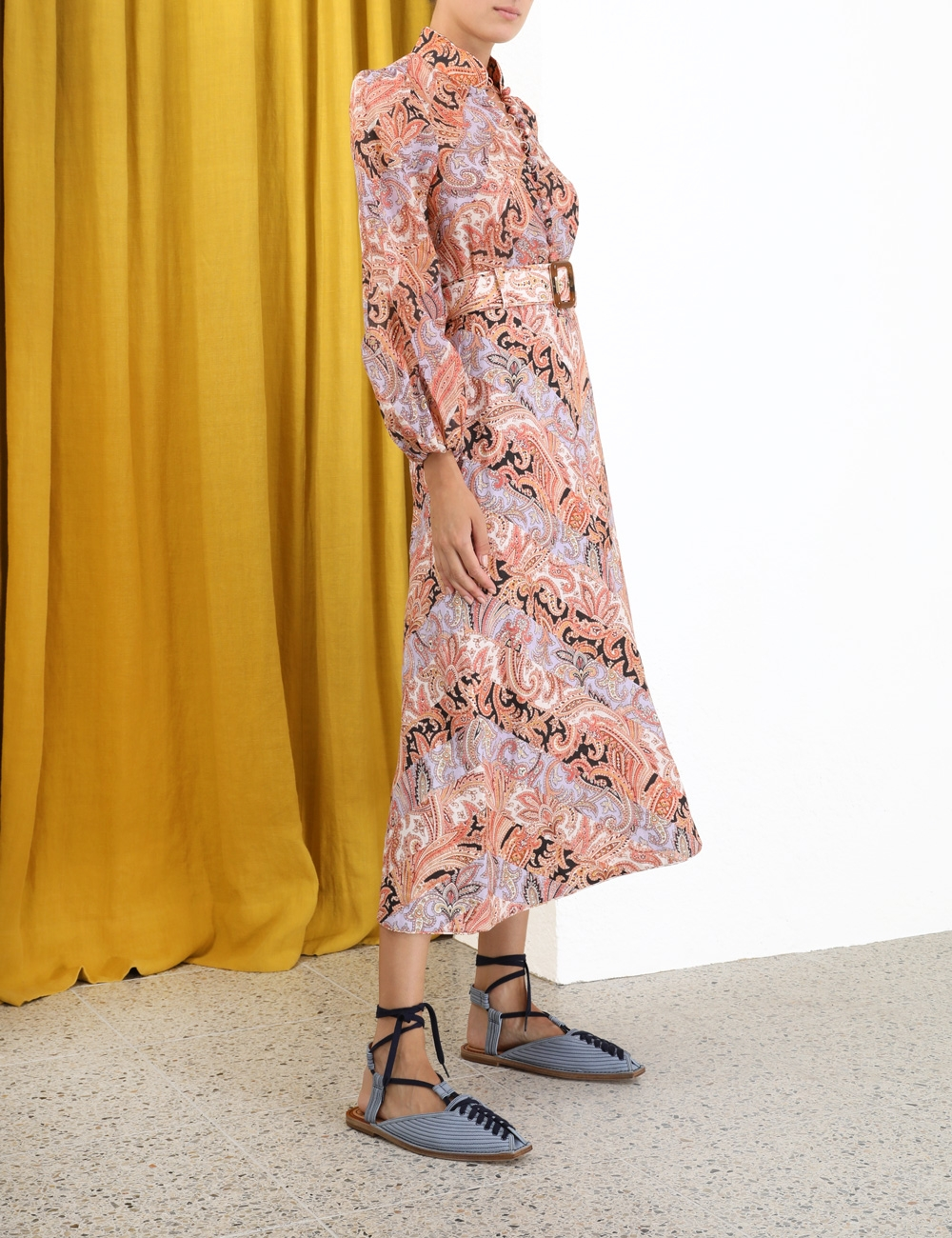 Botanica Chevron Midi Skirt