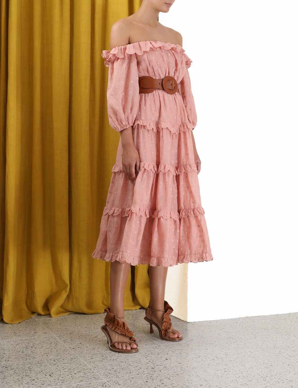 Mae Dot Midi Dress