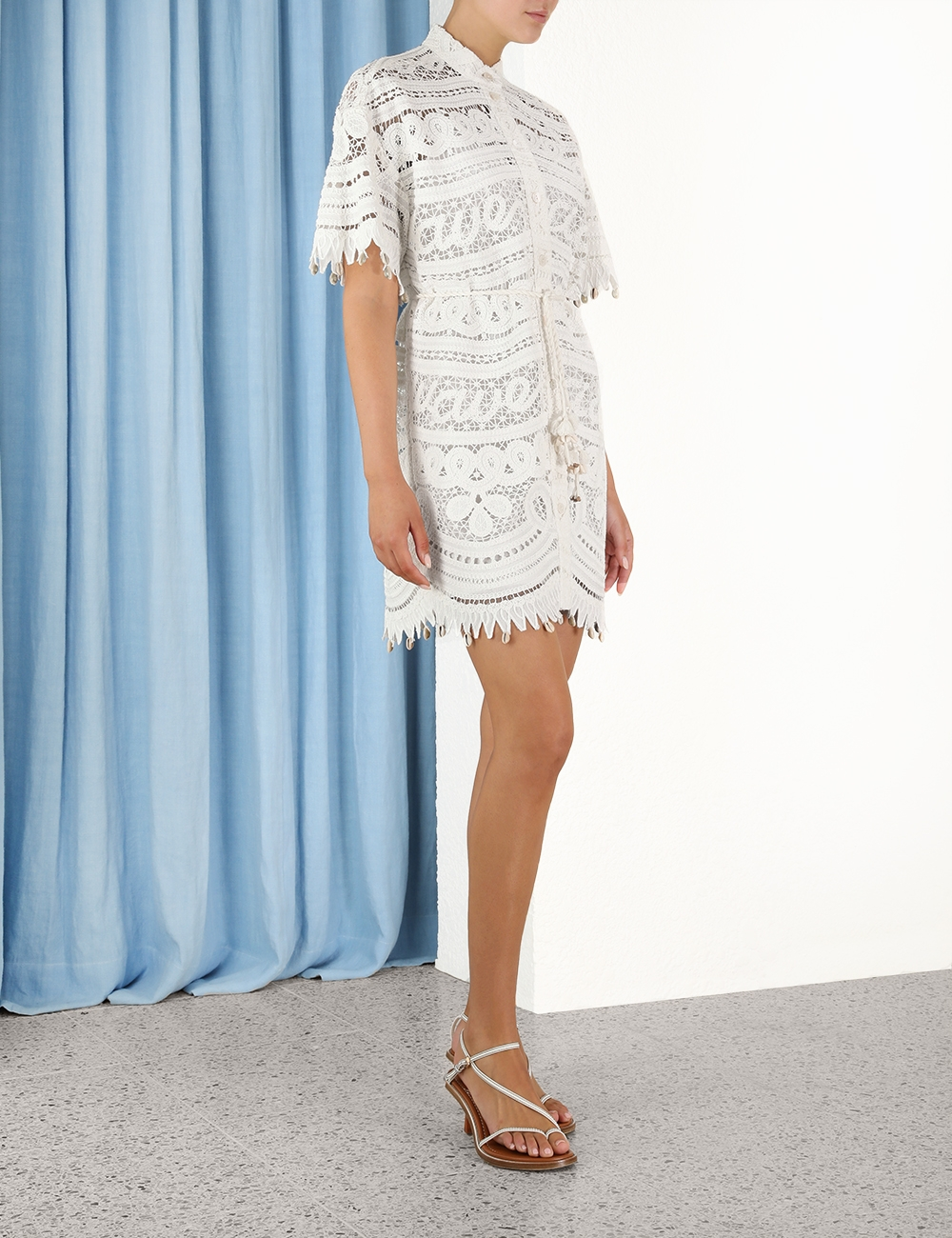Shelly Embroidered Shirt Dress