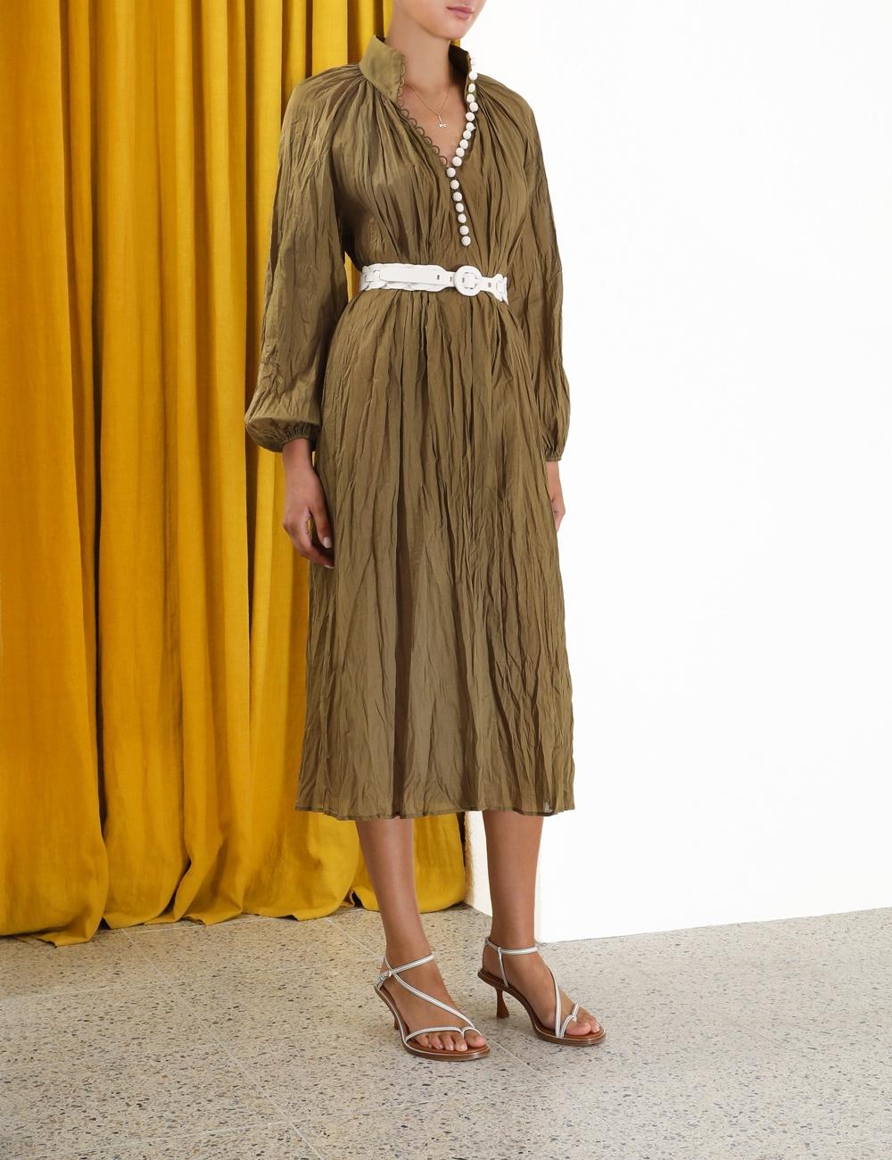 Cassia Crinkle Shirt Dress