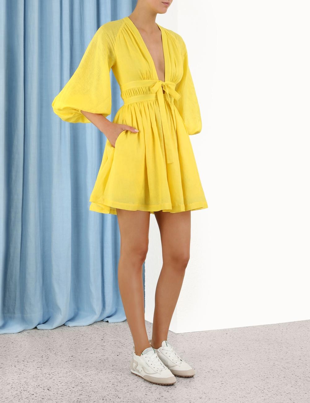 Shelly Plunge Bow Mini Dress