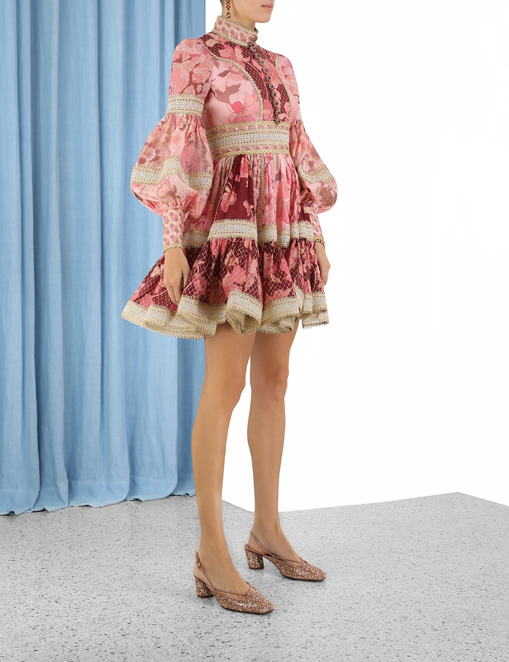 Concert Spliced Trim Dress