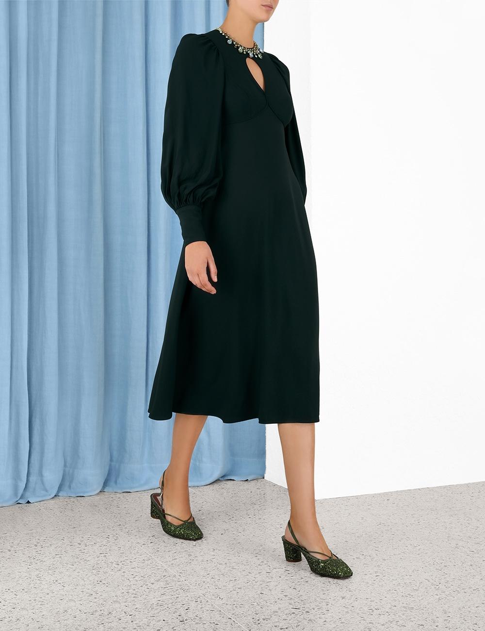 Keyhole Midi Dress