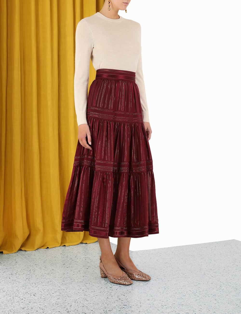 Concert Lurex Panelled Skirt