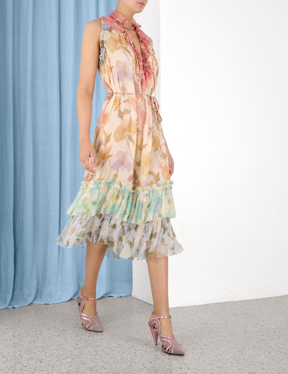 Tempo Frilled Midi Dress