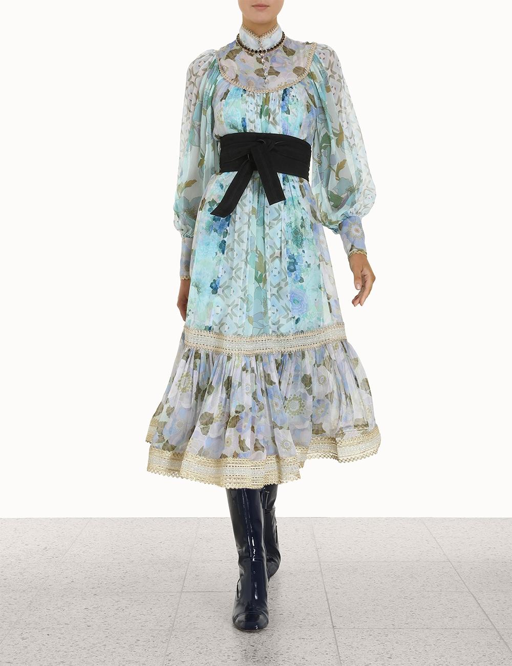 Rhythm Trimmed Billow Dress