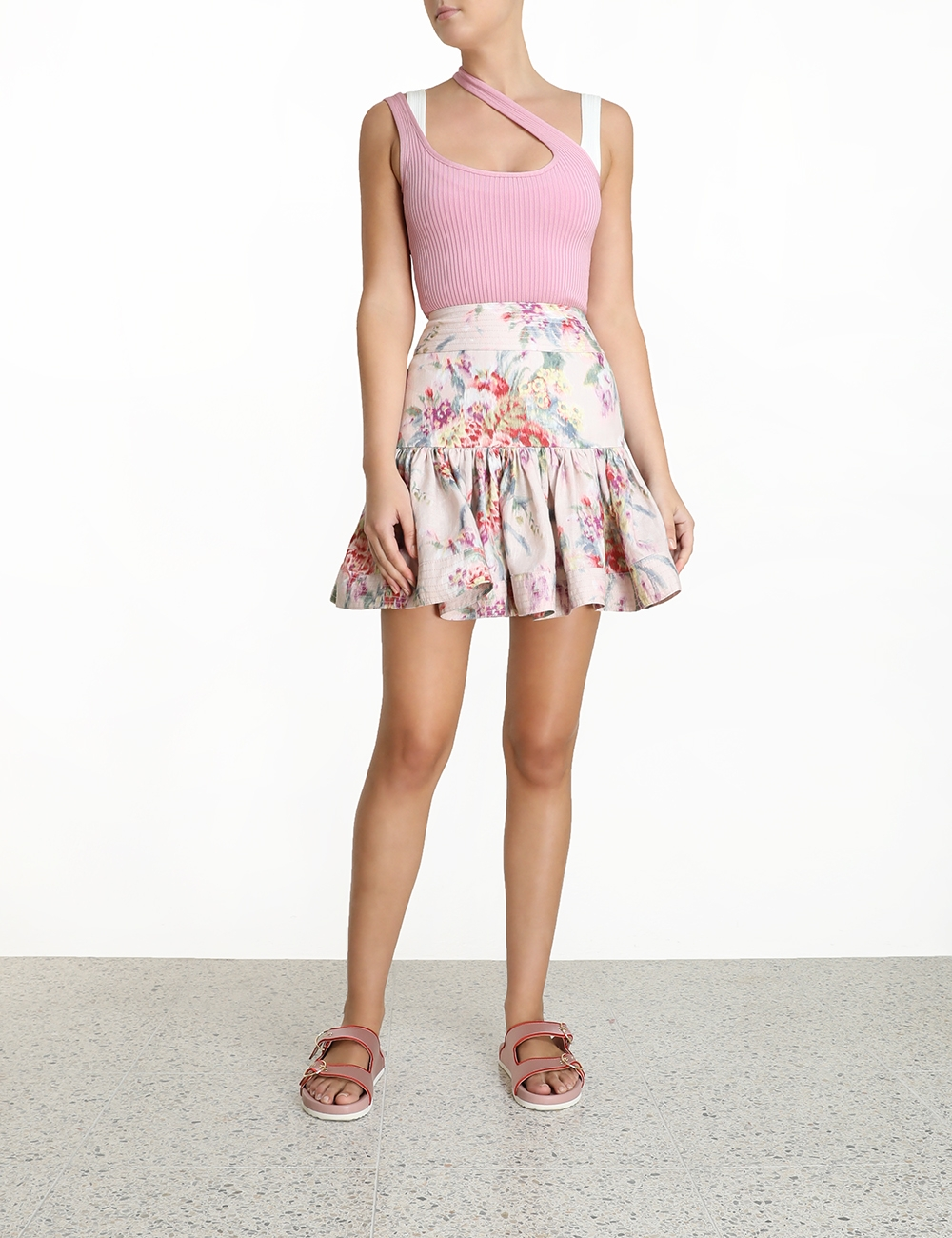 Wavelength Flounce Mini Skirt