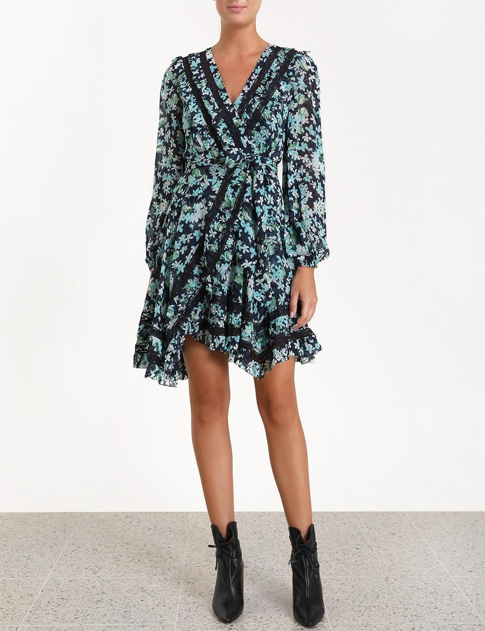 Moncur Wrap Short Dress