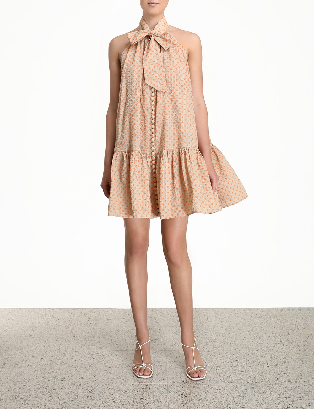 Peggy Bow Tie Short Dress