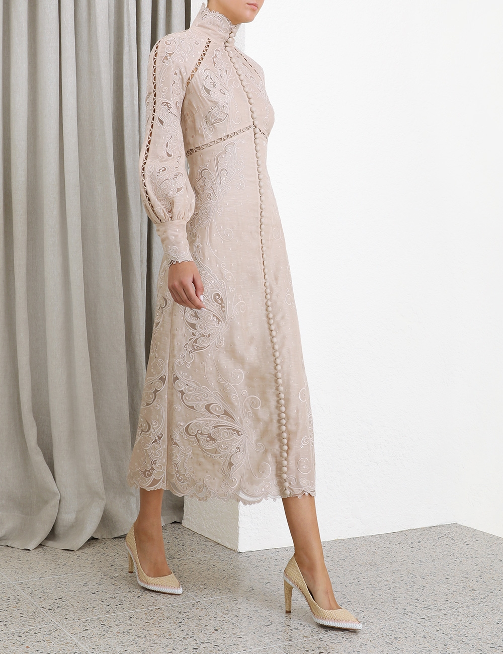 Super Eight Embroidered Midi