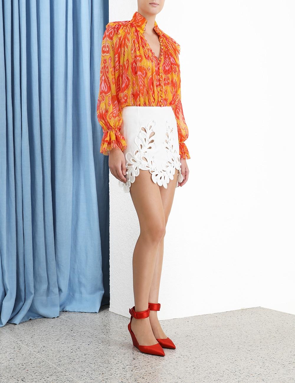 Brightside Rouleaux Mini Skirt