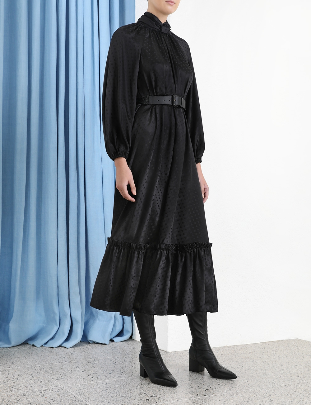 Wavelength Twist Neck Dress