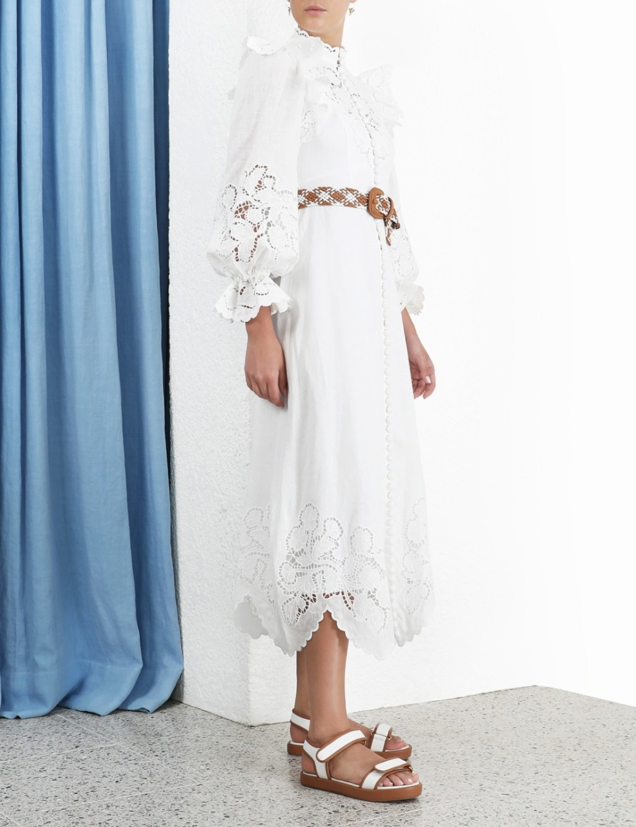 Carnaby Scallop Long Dress