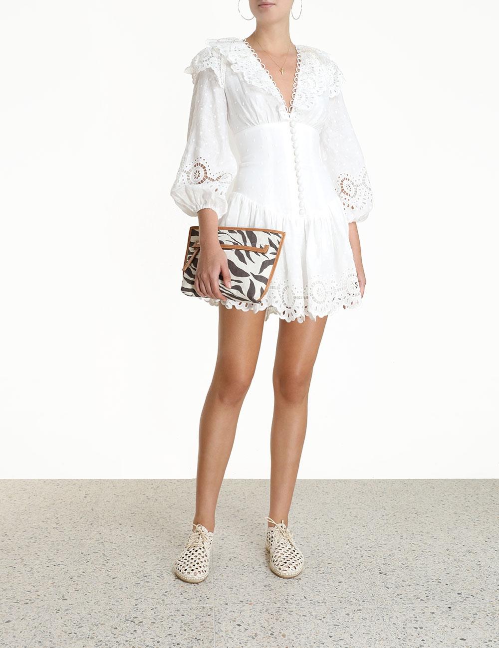 Bellitude Scallop Short Dress