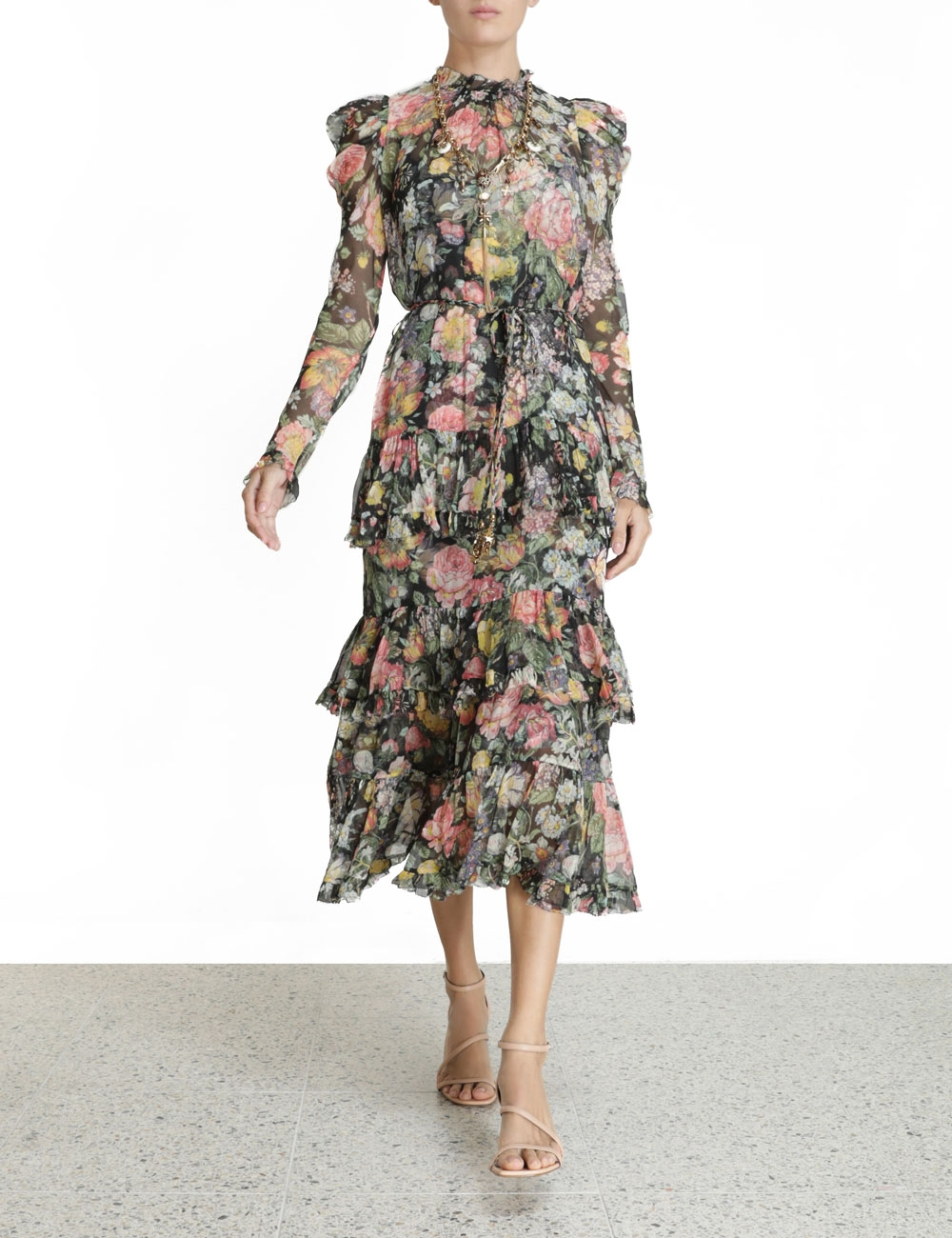Ladybeetle Draped Sleeve Dress