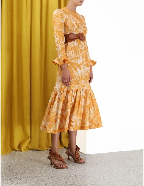Mae Frill Midi Dress