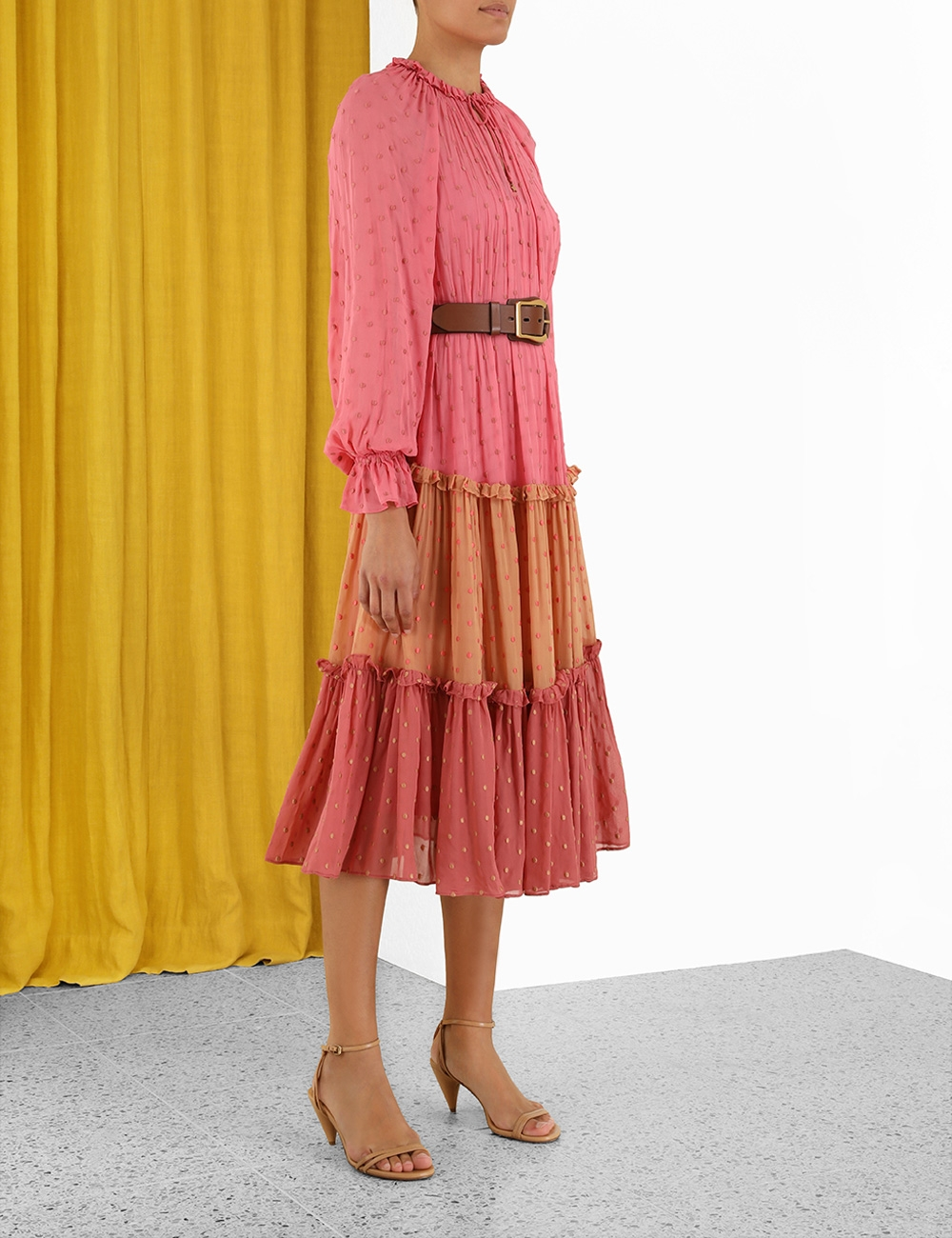 Concert Embroidered Swing Midi