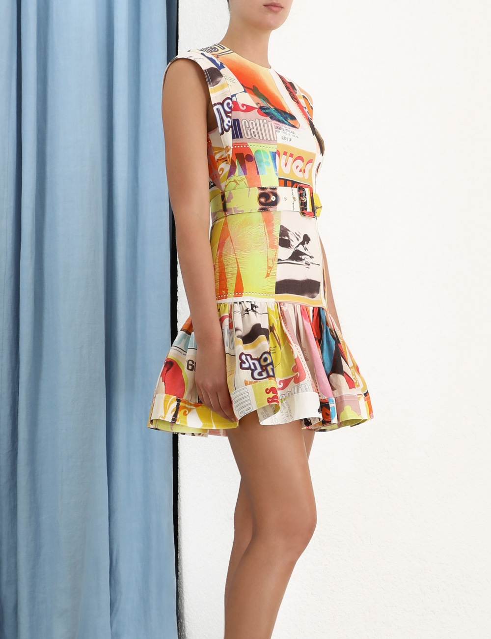 Brightside Fluted Mini Dress