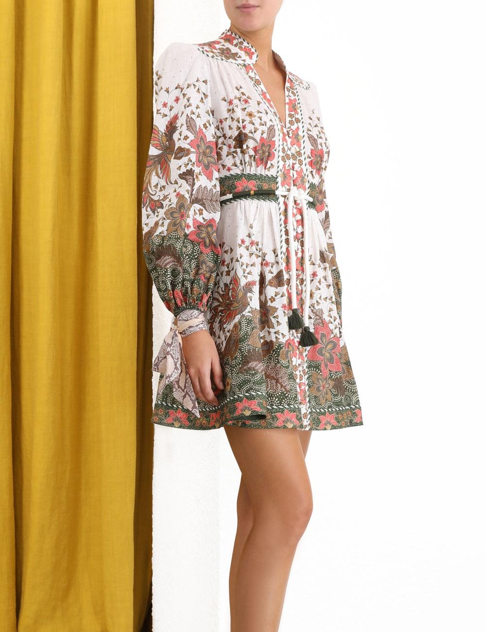 Empire Batik Short Dress