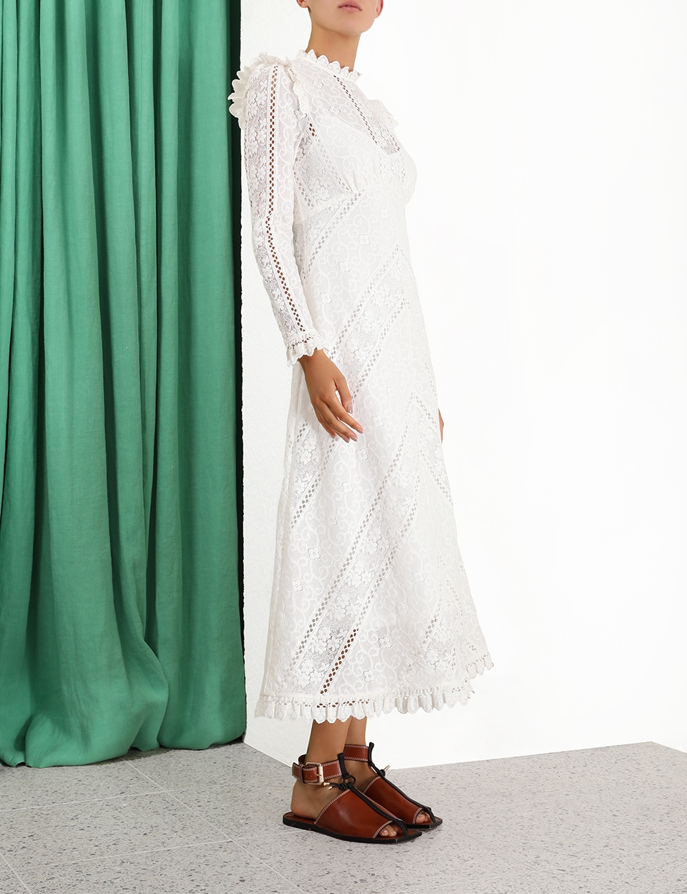 Brighton Panelled Lace Dress