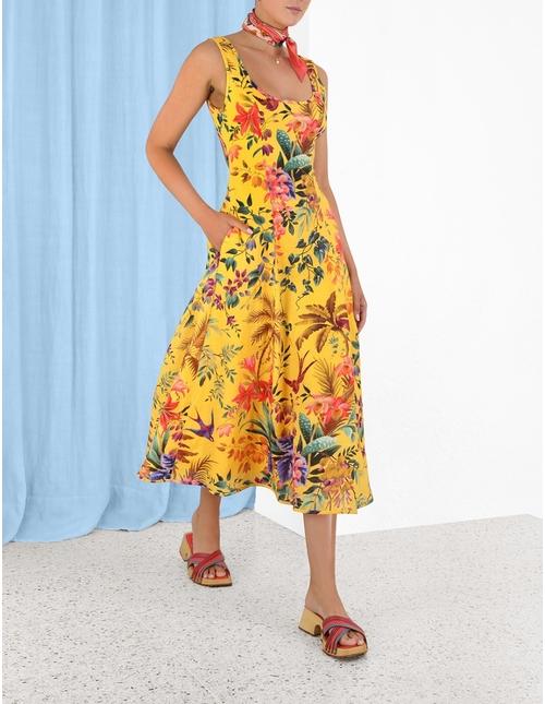 Tropicana Cut Out Midi Dress