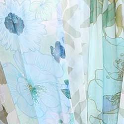 Aqua Mixed Print