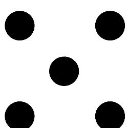 Ivory/Black Dot
