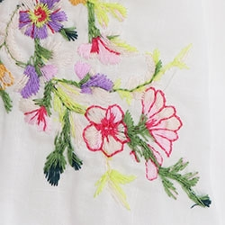 White Floral Embroidery